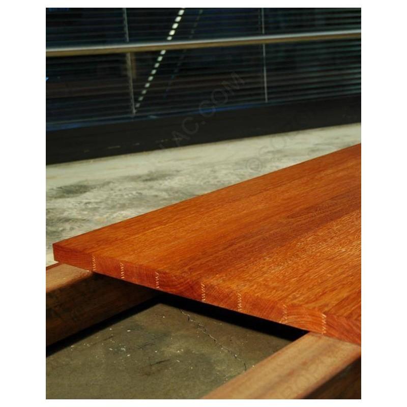 plan de travail kempas brut 30x650x3050 mm carr sol. Black Bedroom Furniture Sets. Home Design Ideas