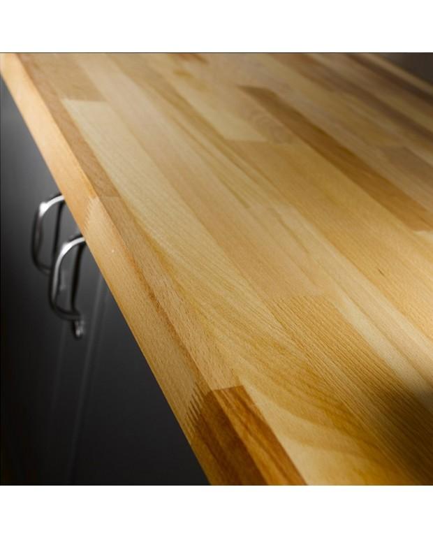 plan de travail teck indo brut 34x650x2400 mm carr sol. Black Bedroom Furniture Sets. Home Design Ideas