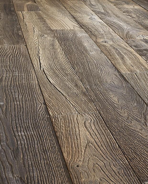 Plancher Chêne Vieilli Semi-Massif Lagune 15/6x170 mm Verni