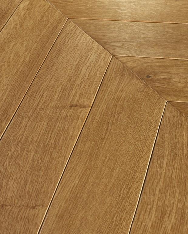 Point de Hongrie Chêne Contrecollé CP Chablis 14/3.2x92x600 mm Huilé