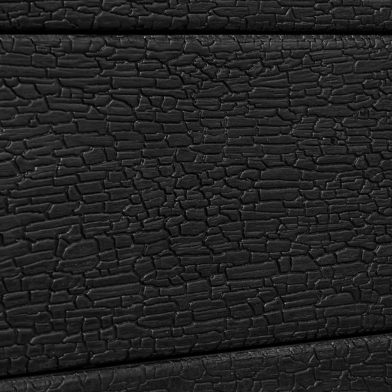 Panneau Mural Accoya 21x125x3050 mm Brûlé Fixé Verni