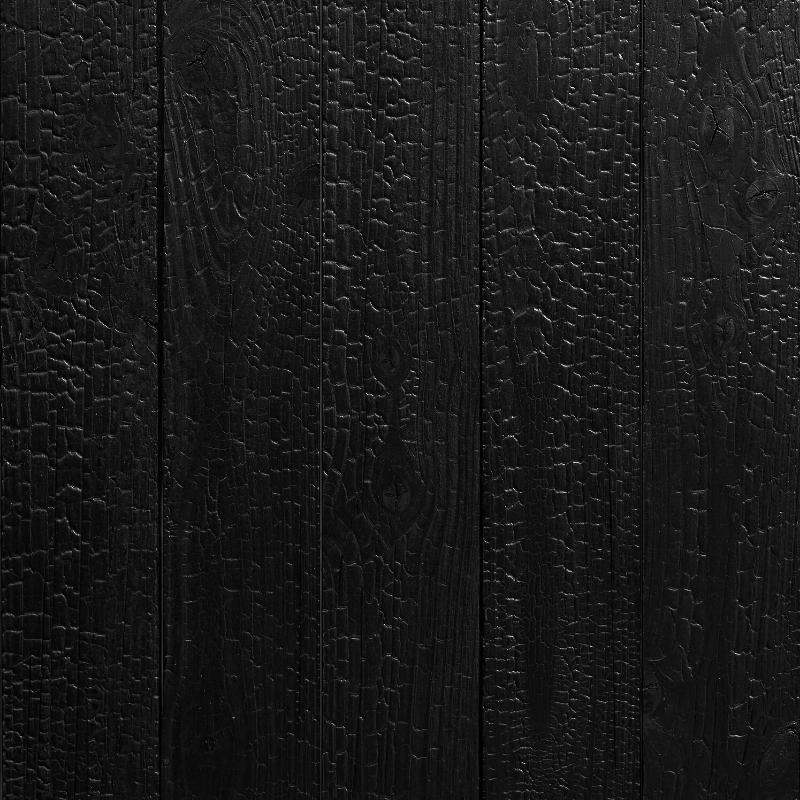 Panneau Mural Douglas 21x125x3050 mm Brûlé Fixé Verni