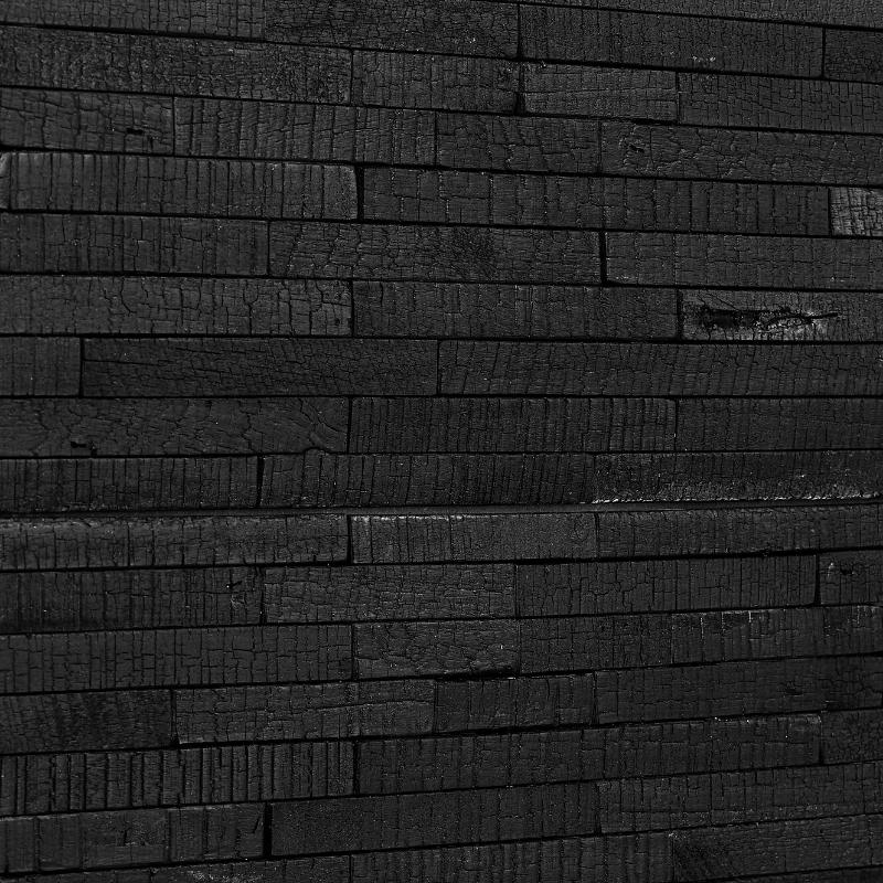 Panneau Mural Teak Burn 13x210x610 mm Brûlé Fixé Verni