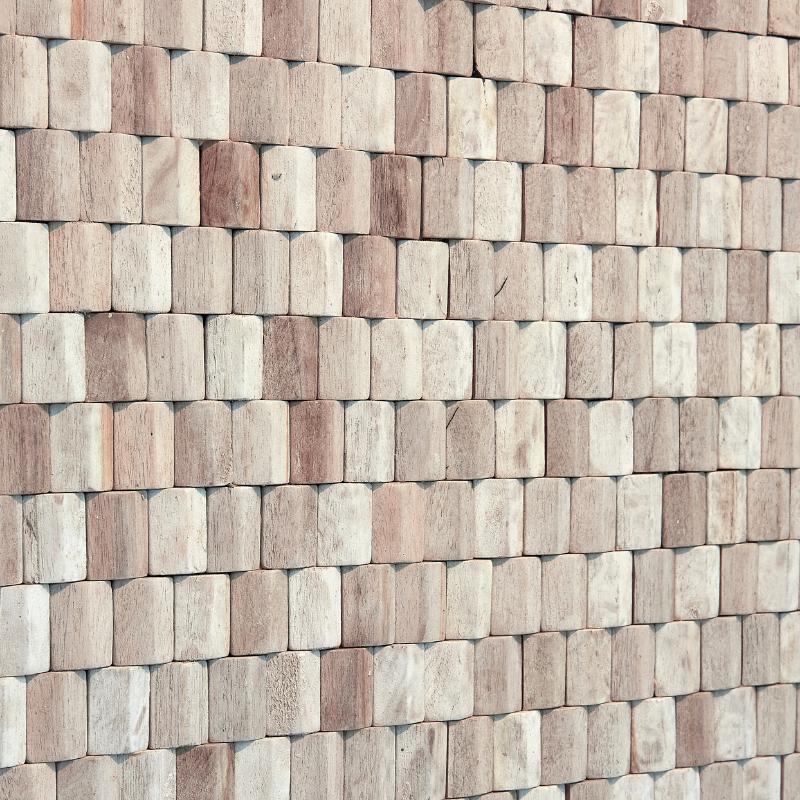 Panneau Mural Teck 10x420x420 mm Teinté Blanc