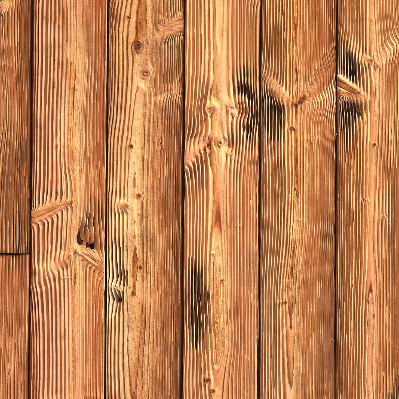 Panneau Mural Mariné Veiné Brut 25x140 mm Brûlé Sablé