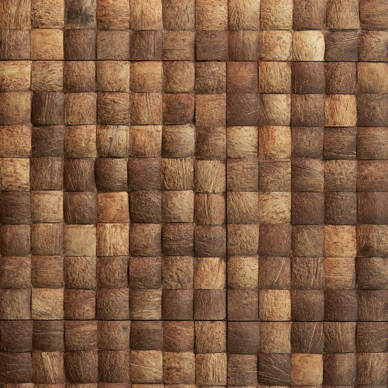 Panneau Mural Coco Noix Ronde Brut 20x410x410 mm