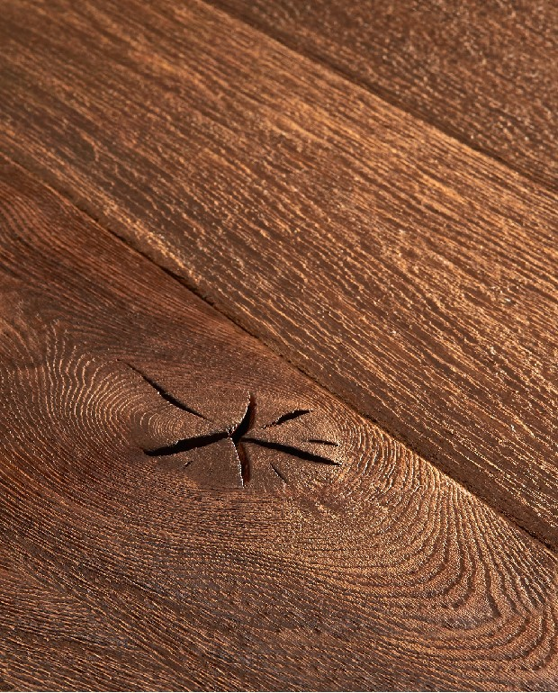 Plancher Vieilli Main Chêne Massif Nairobi 20x140 à 240 mm Huilé