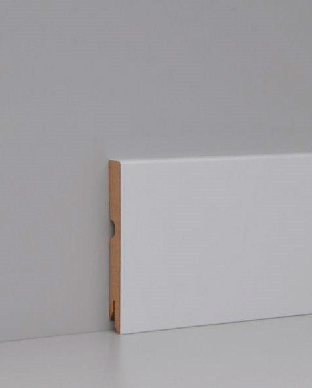 Plinthes MDF Blanc 14x100x2230 mm Bord Carré Prêt à Peindre