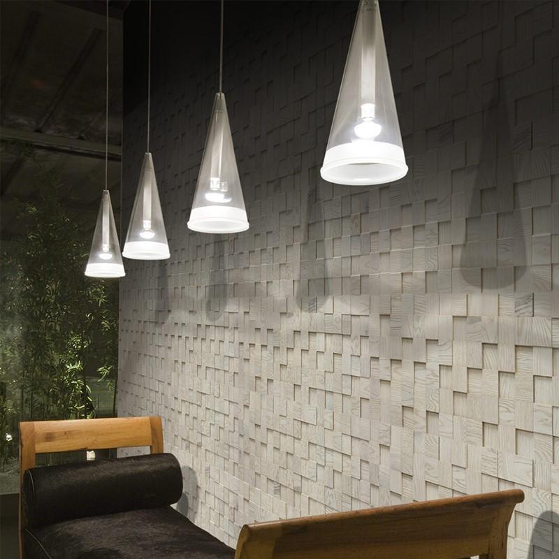 Panneau Mural Chêne Bianco Perla 14x300x300 mm Verni Brossé