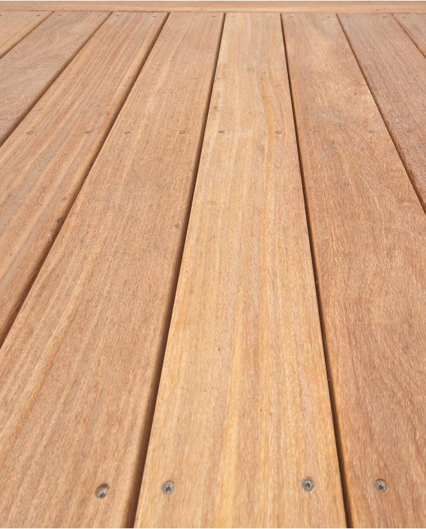 Lames de Terrasse Garapa Brut 20x140 mm