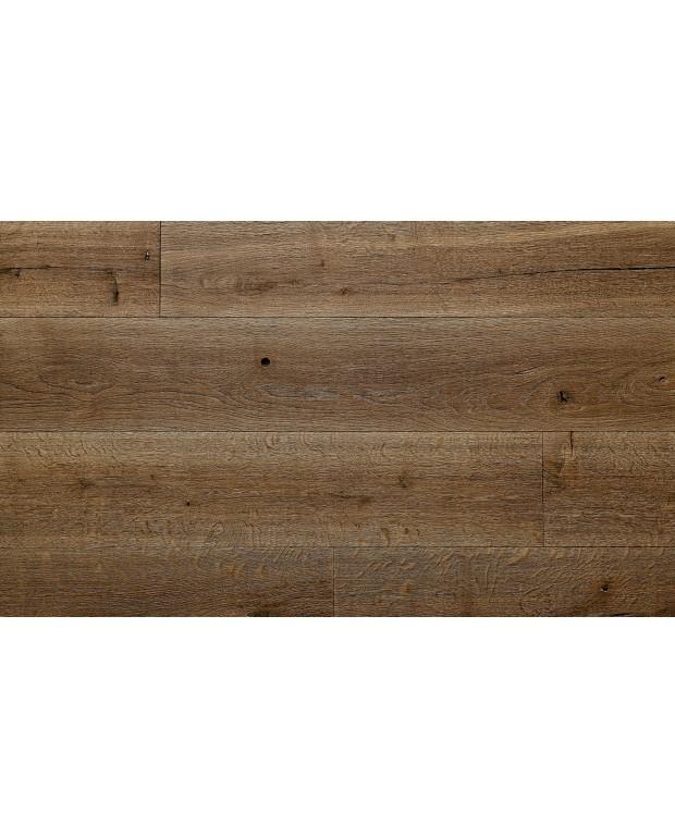 Plancher Vieilli Chêne Semi-Massif C3 15/4x220 mm Huilé Brossé Brûlé