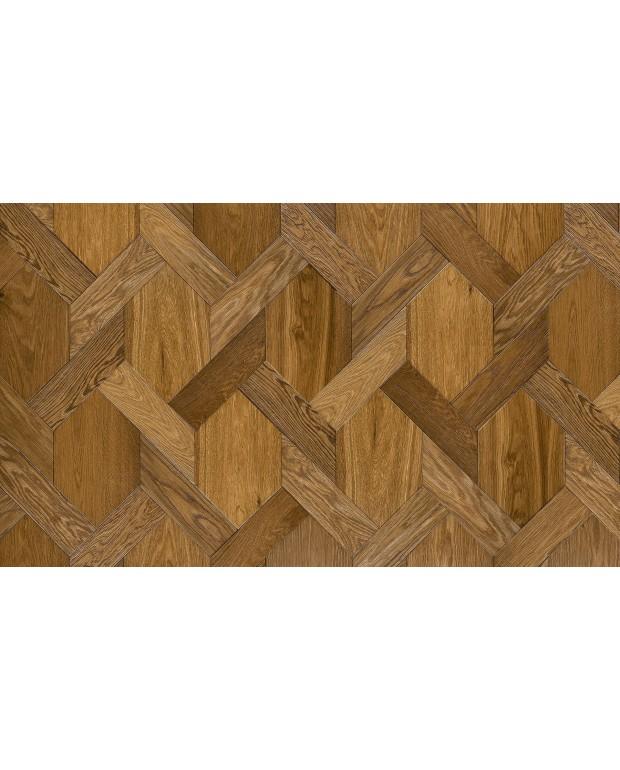 Treccia Chêne Semi-Massif Brown Fumé 15/4x200x327.3/90x321.4 mm