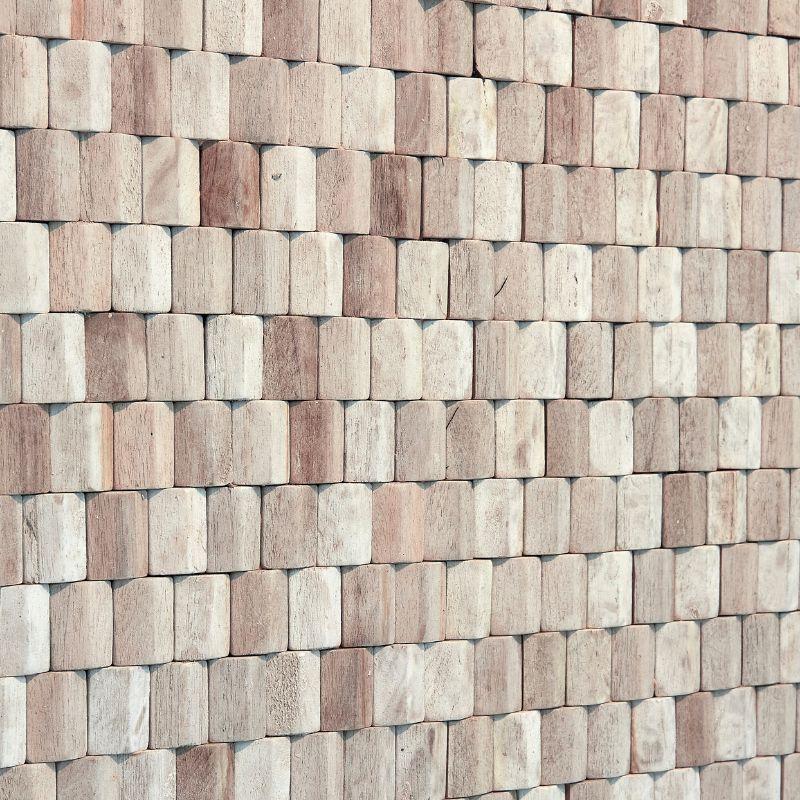 Panneau Décoratif Teck Blanc
